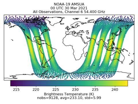 GMAO Latest Satellite Radiances Assimilation