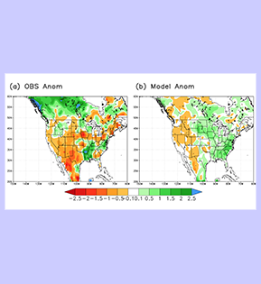 GEOS-S2S Predicted 2020 Summertime Precipitation Anomalies Three Months in Advance thumbnail